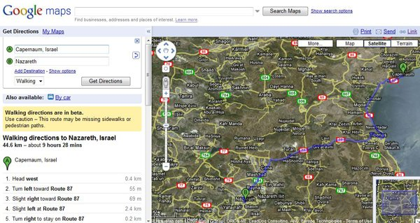 Google Maps - In The Steps of Jesus? - ChurchMag