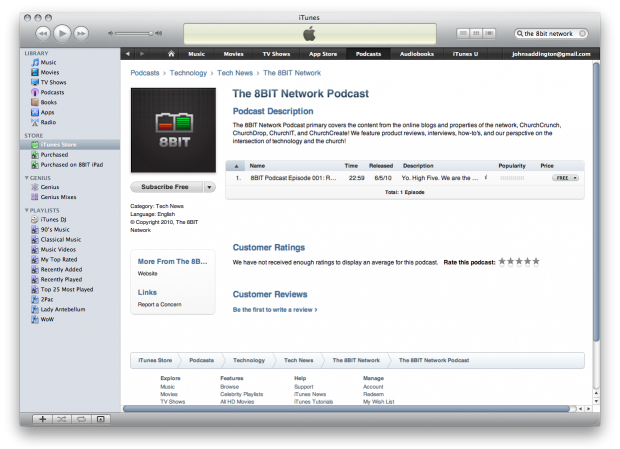 The 8BIT Podcast is on iTunes! Subscribe and Rate! - ChurchMag
