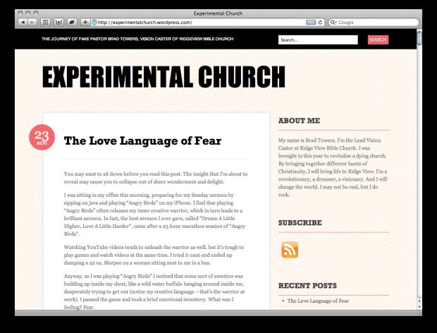 Fake Church Blogs? Really? - ChurchMag