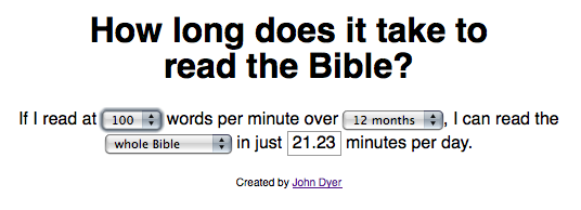 Calculator: How Long Will It Take You To Read the Whole