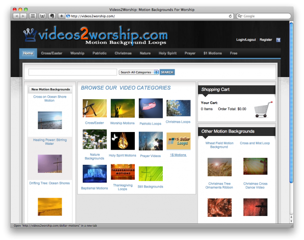 Videos 2 Worship for Motion Background Loops - ChurchMag