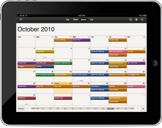 Ipad Calendars Cloud Calendar For The Ipad