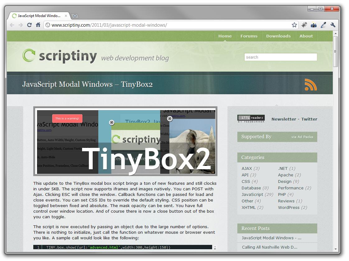 TinyBox2 For Easy JavaScript Modals - ChurchMag