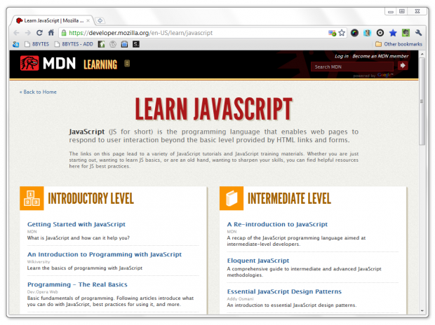 Learn Javascript With Mdn Learning Churchmag