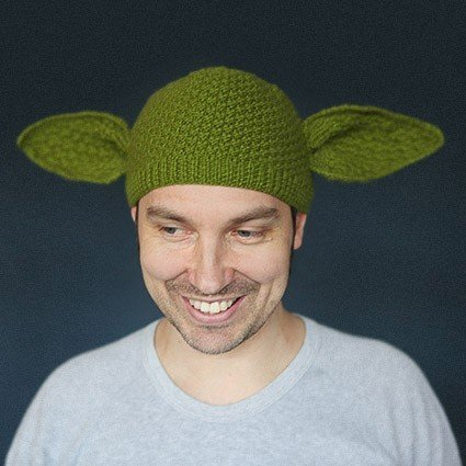 Knitting Pattern For Yoda Hat : Hand Knitted Yoda Beanie - ChurchMag