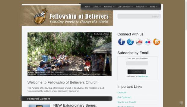 church, website, blog, fellowship of believers
