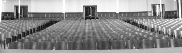Empty Auditorium Ready For A Video Countdown