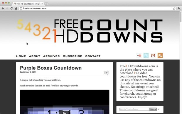 A great source of free video countdowns