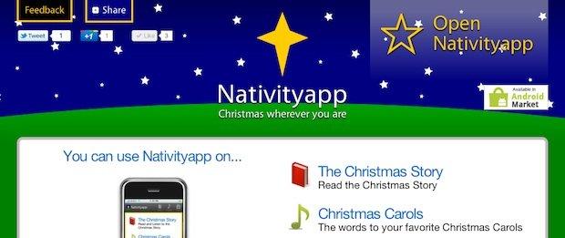 nativity app site screenshot