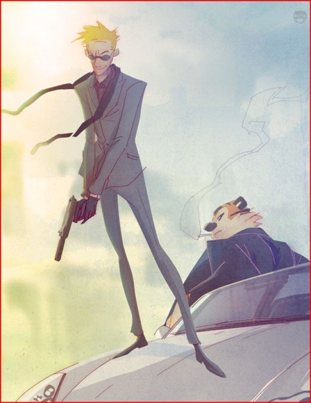 calvin and hobbes grown up secret agents