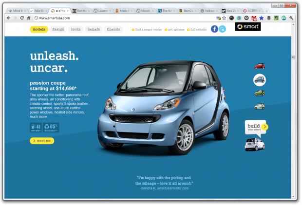parallax scrolling smart car usa
