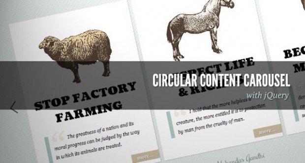 Circular Content Carousel jquery plugin