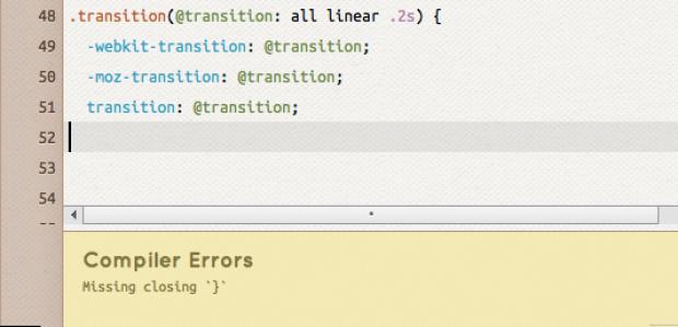 crunch! less css editor compiler