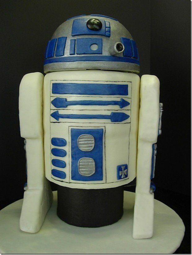 star wars rd-d2 birthday cake