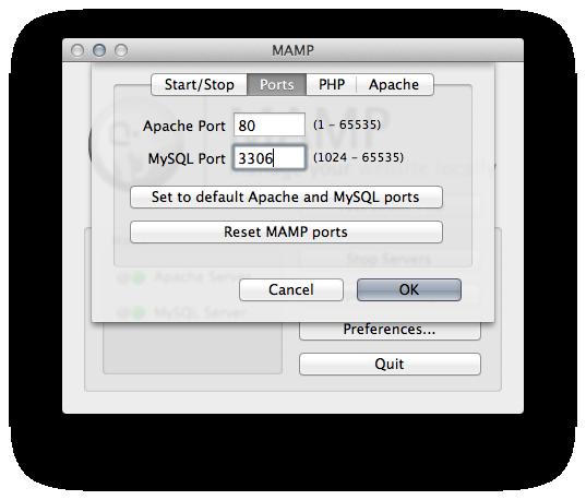 mamp port change