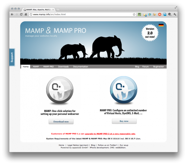mamp pro website