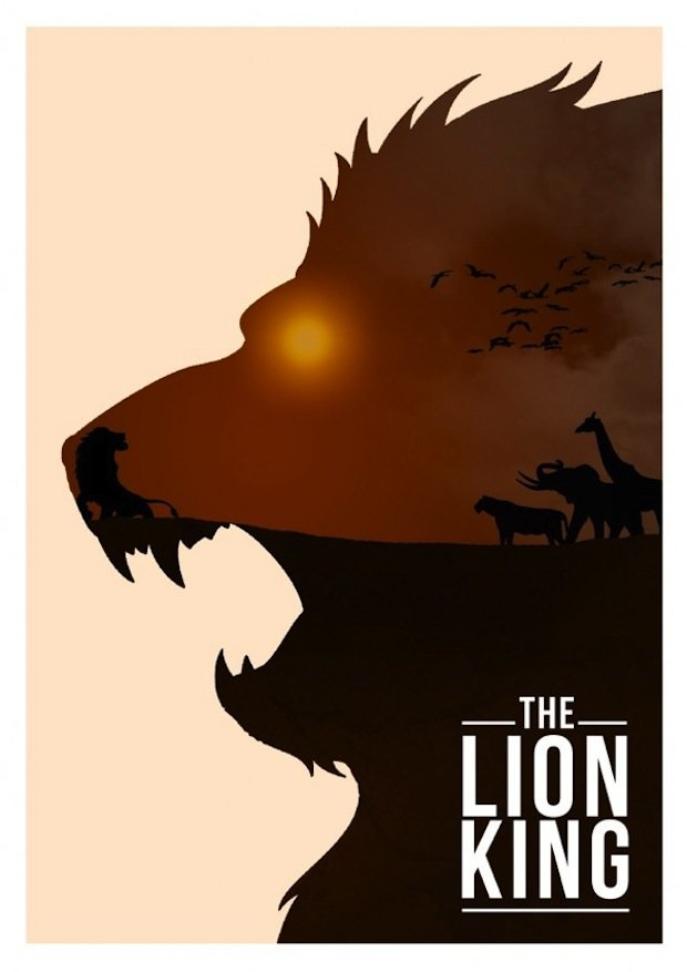 minimal disney movie poster lion king