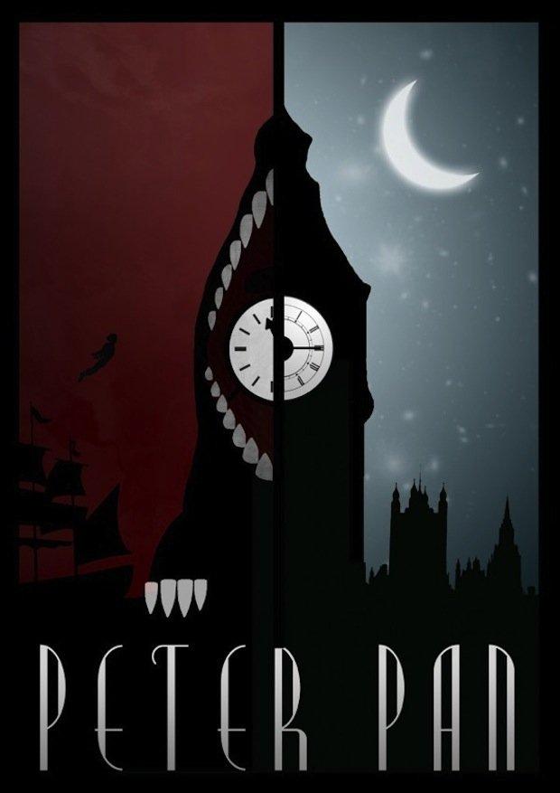 minimal disney movie poster peter pan