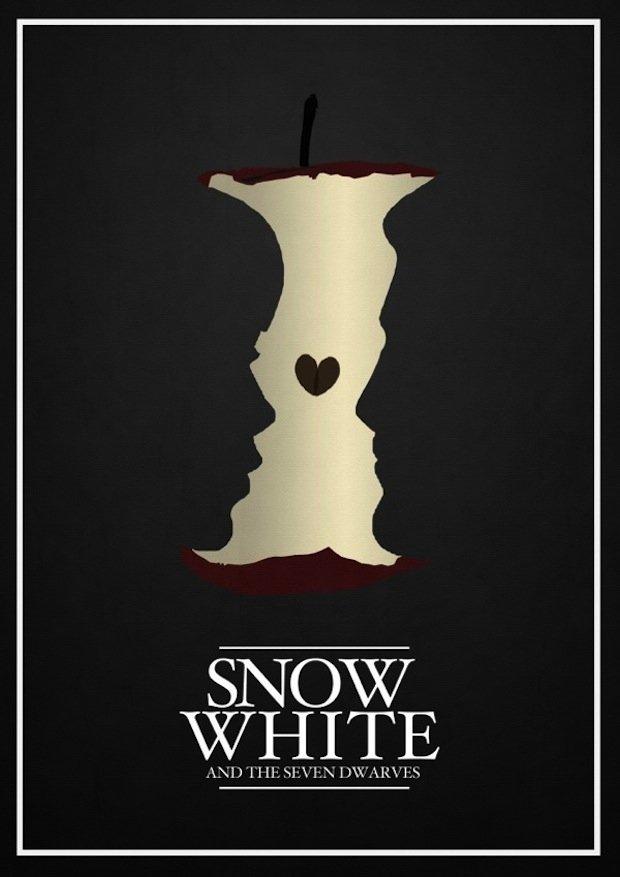minimal disney movie poster snow white