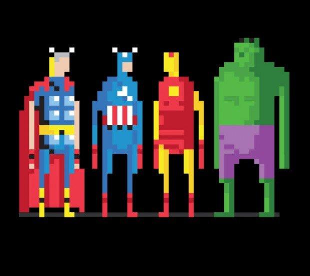 the avengers 8-bit