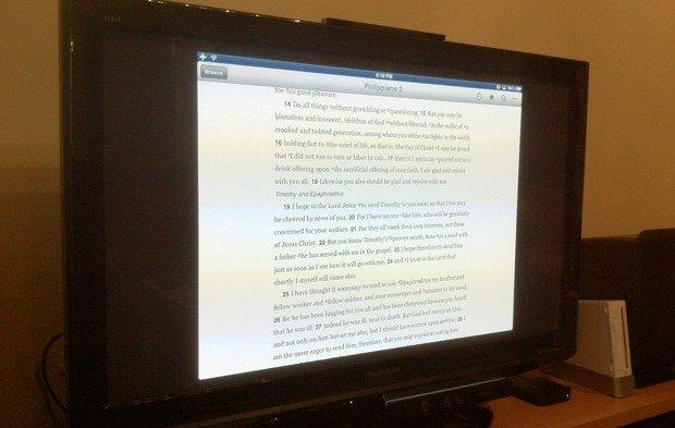 iPad mirroring Bible to Apple TV