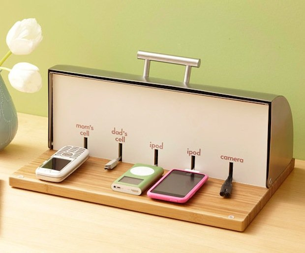 Diy portable device charging station churchmag Diy cell phone charging station