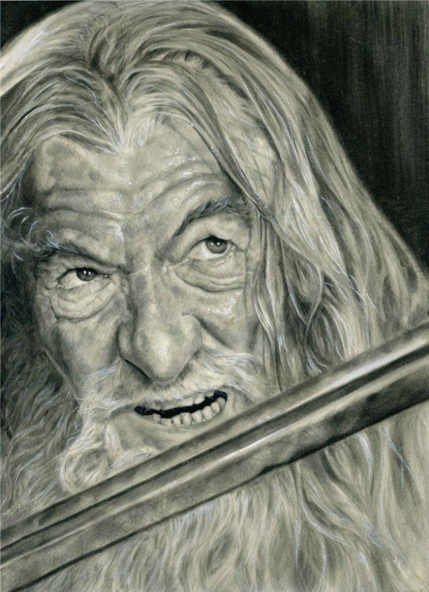 Lord of The Rings Pencil Drawings Gandalf Lord of The Rings The