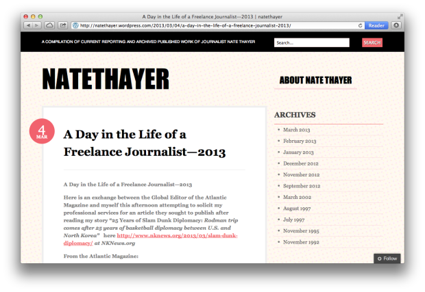 nate thayer blog