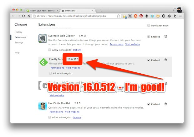 Feedly Check Extension
