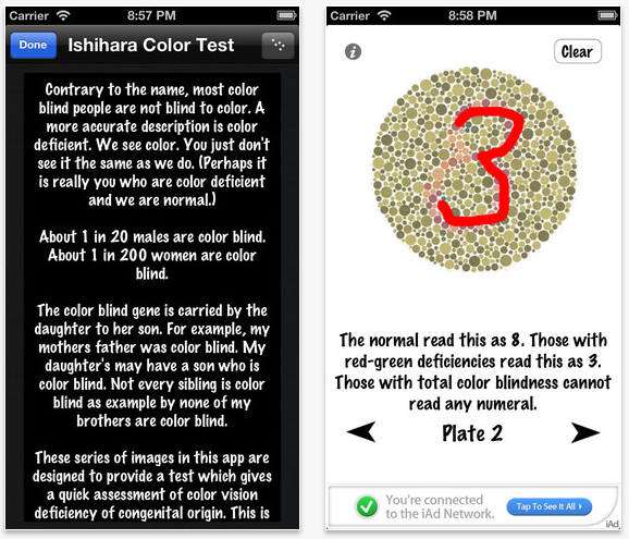 PseudoChromatic ColorTest screen color blind