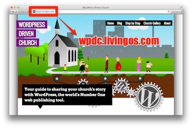 WordPress Drive Church URL