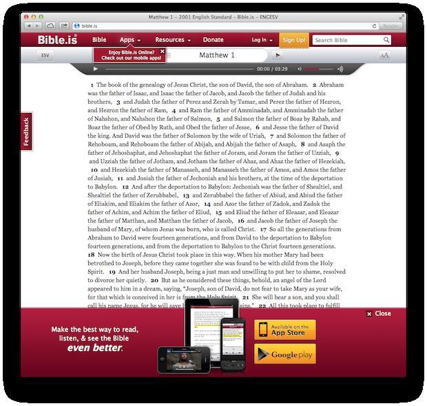 Bible-is App Screenshot