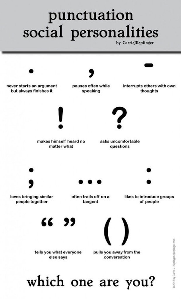 Punctuation Social Personalities - ChurchMag