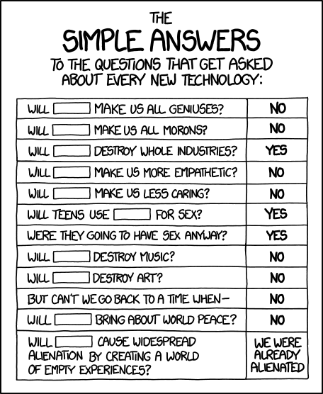 Simple Tech Answers via xkcd