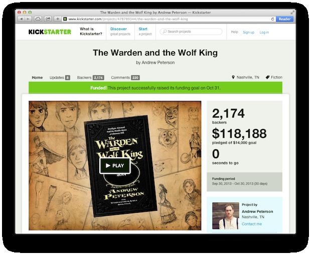 Wingfeather Saga The Warden and the Wolf King - Kickstarter