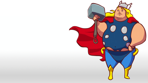 fatthor-1366x768, supersized heroes