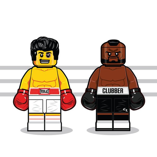 LEGO Illustrations Of Iconic Characters From The 1980s 5