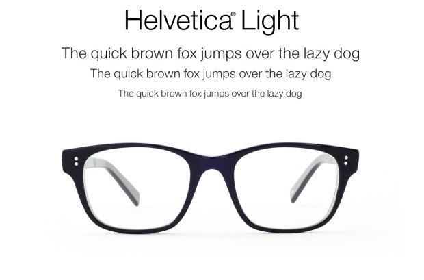 Eyeglass Frames Styled After Font Types - ChurchMag