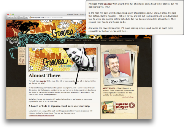 Shaun Groves Screen