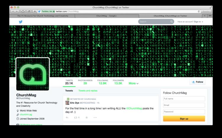 CM Matrix BRanding Twitter