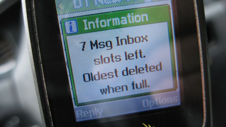 text messages display