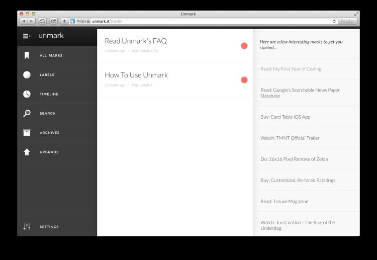 unmark screenshot