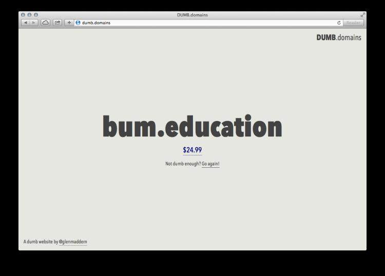 dumb domains 10