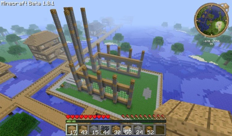 How to build a Minecraft church 01