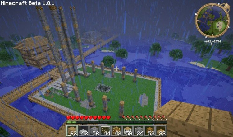 How to build a Minecraft church 02