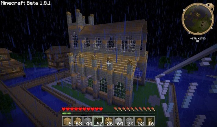 How to build a Minecraft church 14