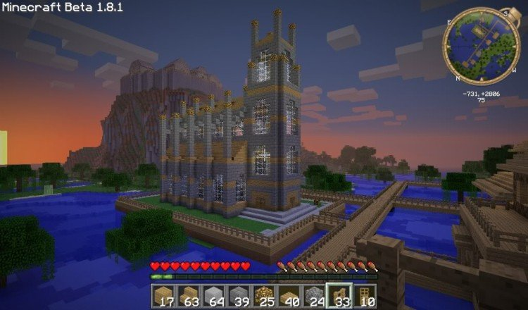 How to build a Minecraft church 21
