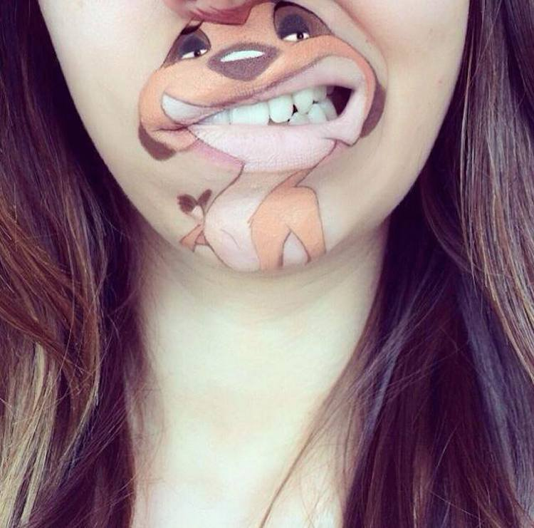 Laura Jenkinson Cartoon-Faces-with-Human-Mouths 04