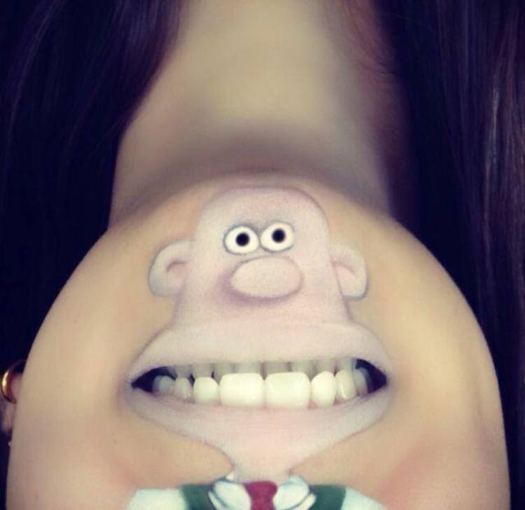 Laura Jenkinson Cartoon-Faces-with-Human-Mouths 05