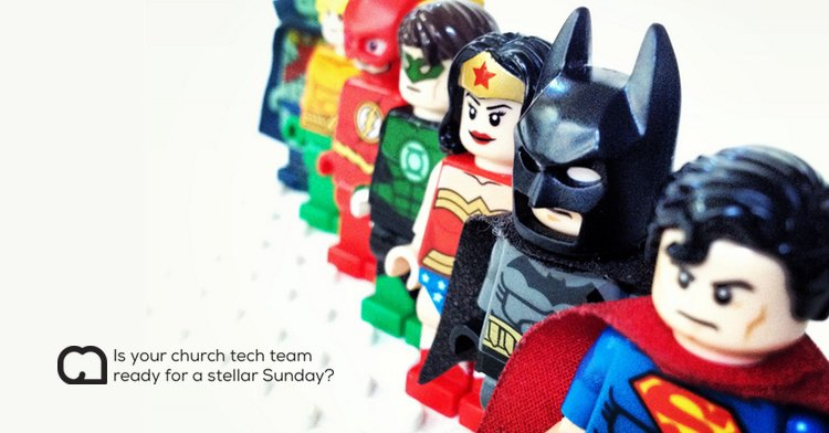 the church tech justice league in LEGO
